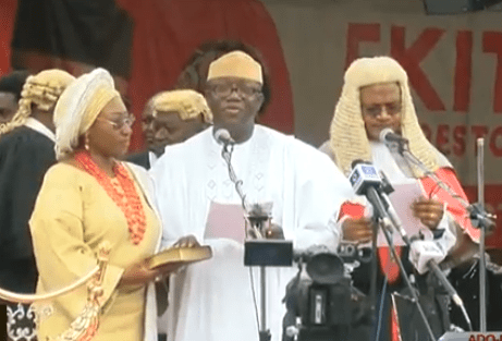 Kayode Fayemi sworn in