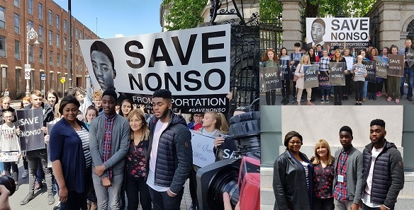 Image result for More photos of the protest that stopped the Nigerian Boy from getting deported from Ireland
