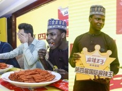 Nigerian man wins spicy food challenge