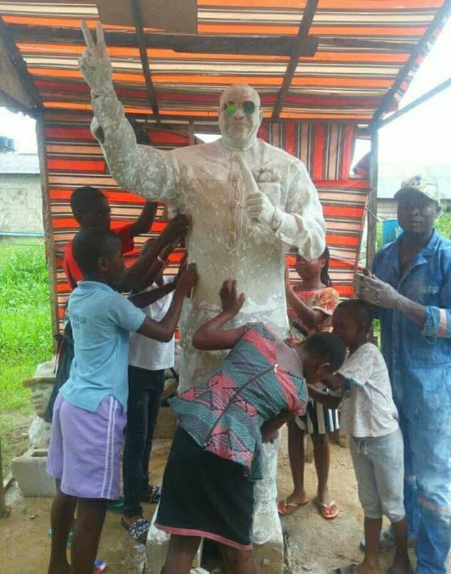 Serving Youth Corper Erects Statue
