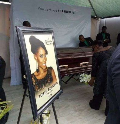 Tosyn Bucknor buried