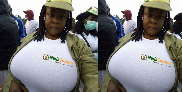 Image result for Female Corps members's photo has tongues wagging online - yabaleftonline.ng