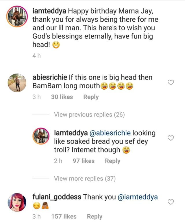 Teddy A wishes his baby mama a happy birthday
