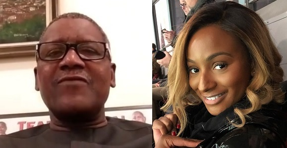 Image result for VIDEO: Billionaire Dangote calls DJ Cuppy to wish her a happy birthday.