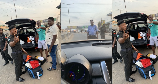 Image result for Nigerian man living abroad is left in shock after police stopped him and searched his bags when he visited Lagos.