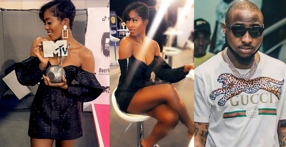Image result for Tiwa Savage beats Davido to win Best African Act at MTV EMAs 2018.