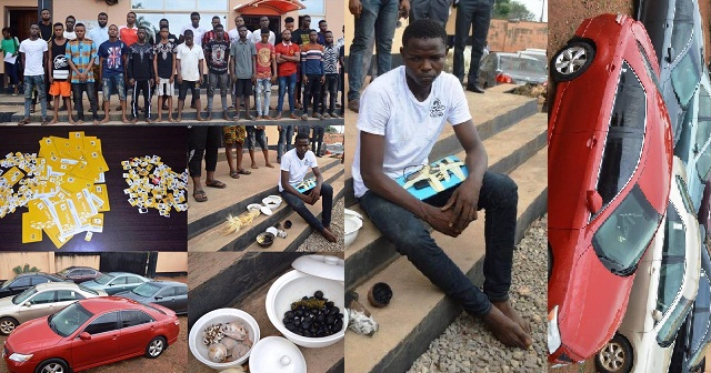 Image result for EFCC arrests 24 OOU students for Cyber crime in Ogun, exotic cars recovered (Photos)