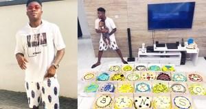 Reekado Banks gets 25 cakes