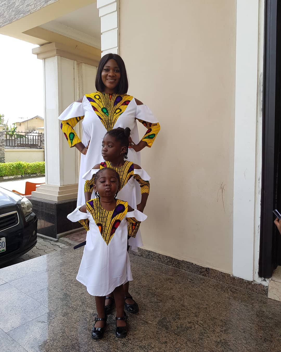 Mercy Johnson And Her Daughters Stun In Matching Outfits