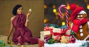 Toke Makinwa shares old Christmas photo