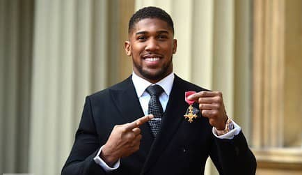 Anthony Joshua awarded OBE