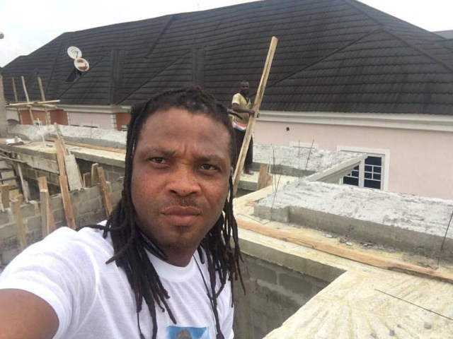 African China uncompleted - African China replies troll who asked him to stop showing off his house that is still under construction