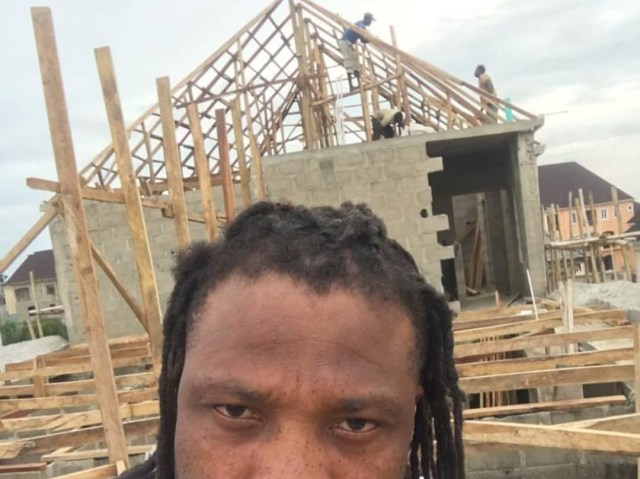 African China uncompleted4 - African China replies troll who asked him to stop showing off his house that is still under construction
