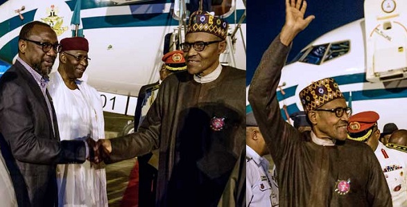 President Buhari arrives Abuja from Poland (Photos) - YabaLeftOnline
