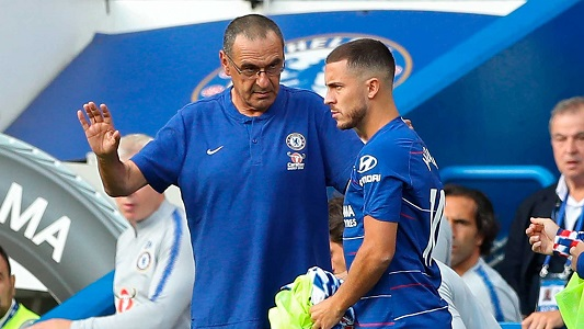 Maurizio Sarri says Hazard will continue to play as a striker