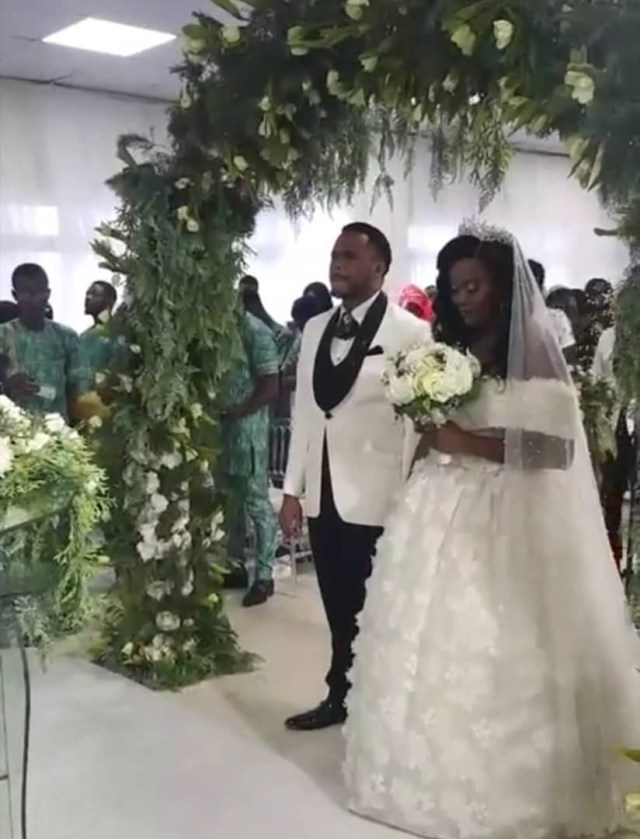 Michael Okon's church wedding