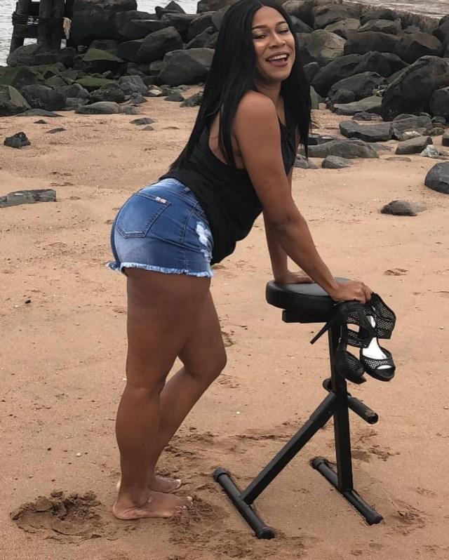 Regina Askia Shares Sizzling Hot Photos Of Her Sexy Long Legs
