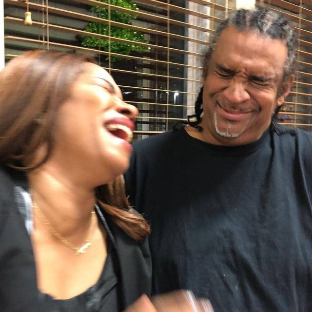 [photos] Regina Askia & husband share a kiss as they celebrate her 51st birthday