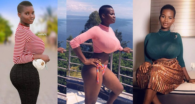 Ghanaian Model causes stir online with her Extra Ordinary Hourglass Shape (Photos/Video) - YabaLeftOnline