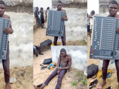 Young man arrested after stealing from a church
