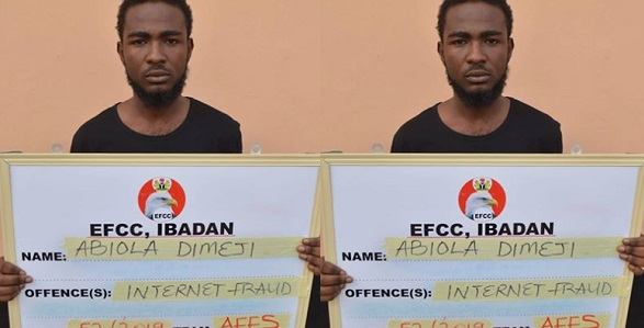 Image result for Suspected Yahoo boy pretending to be a woman arrested for scamming US citizen of $230.