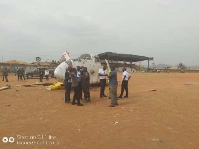Osinbajo Crash 01 - BREAKING: Helicopter carrying Osinbajo crash lands in Kogi state (photos)