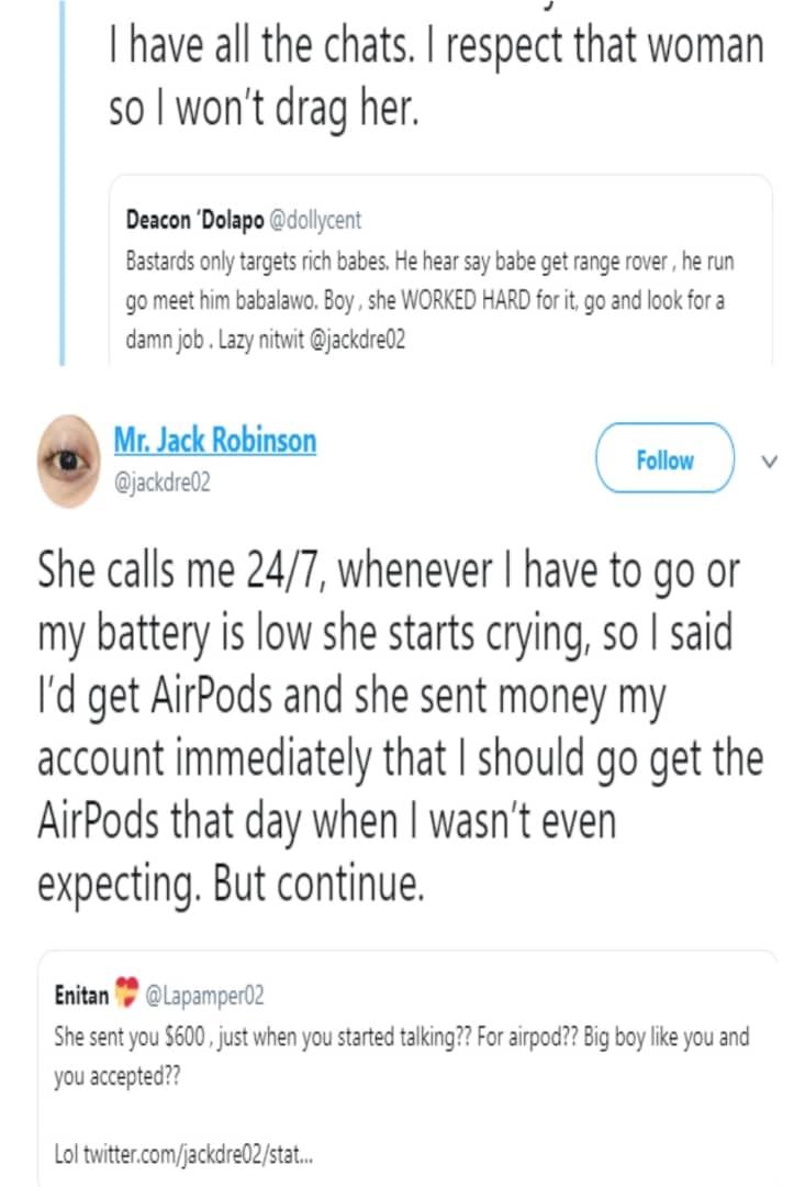 Nigerian woman accuses her boyfriend of using jazz on her