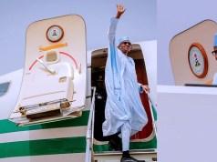 President Buhari departs