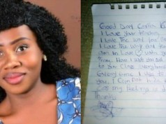 Corps member shares love letter she got from a male student