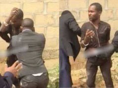 Pastor catches man