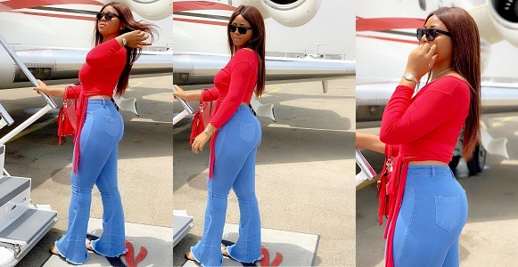 Image result for I am young, hot and getting it — Regina Daniels brags as she boards a private jet.