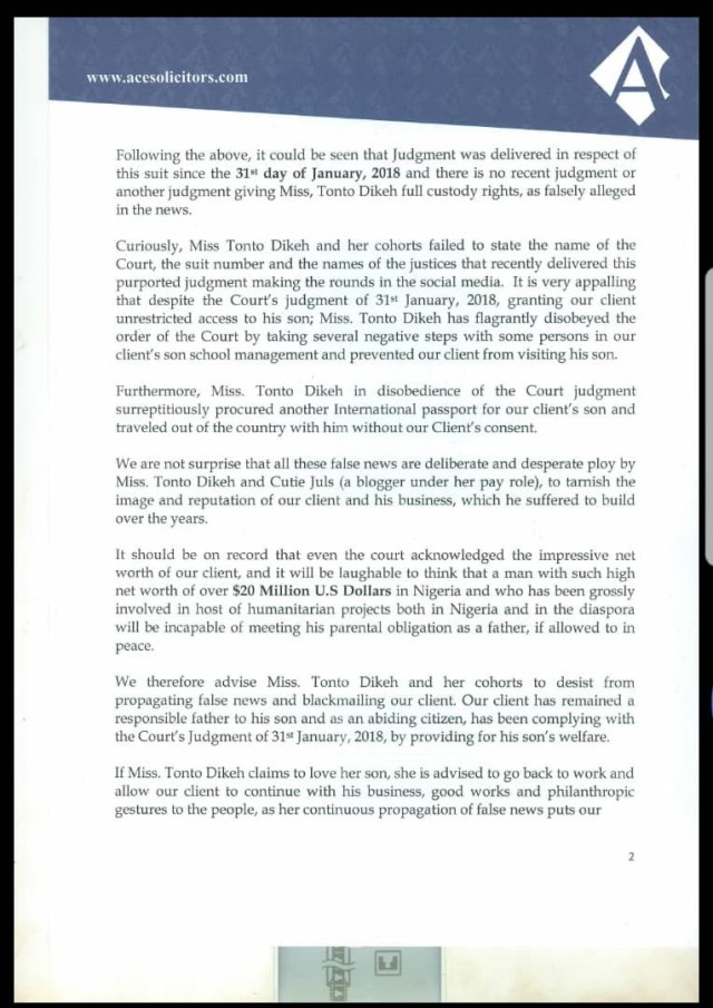 Olakunle Churchill releases disclaimer