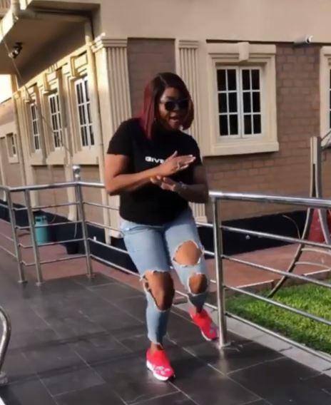 Funke Akindele Dances Zanku Leg Work