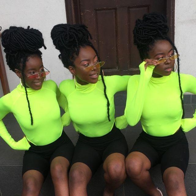 Beautiful Nigerian triplets