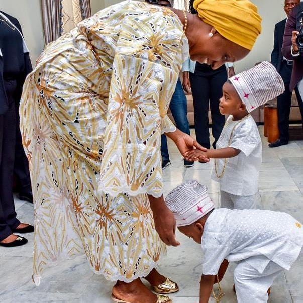 Governor Ajimobi's little grandson