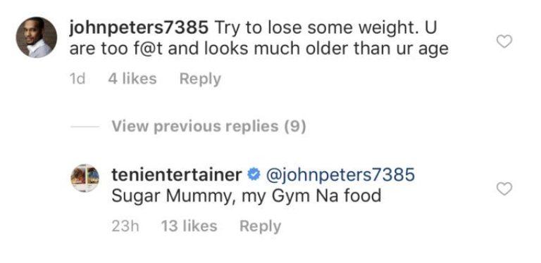 Singer Teni replies follower who said she's too fat (See Reply) 2