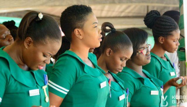 Ghanaian female Nurses lament