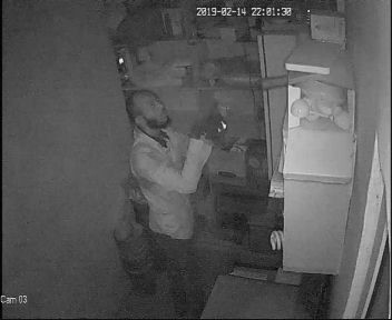CCTV records unidentified man stealing