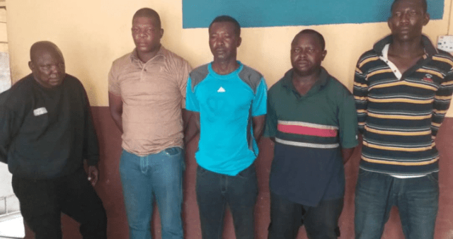 Five policemen arrested