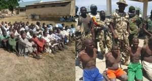 Boko Haram members beg