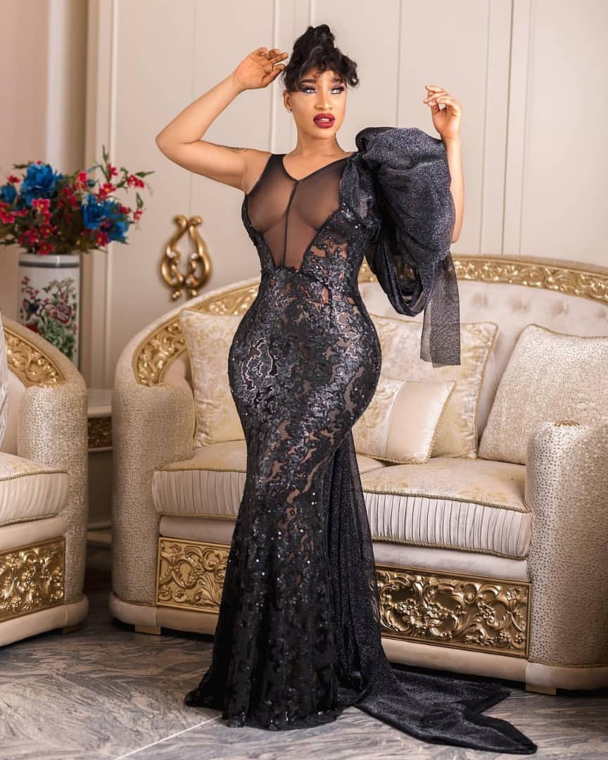 Tonto Dikeh Appears In Sexy Black Outfit – (Picture)