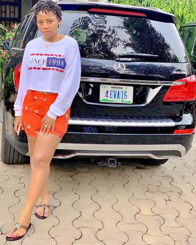 Regina Daniels Gets Customized Plate Number