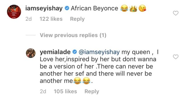 Seyi Shay's Beyonce comparison