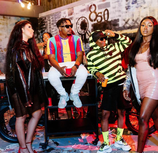 Olamide and Wizkid spotted together in a video shoot