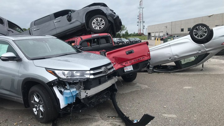 new cars destroyed