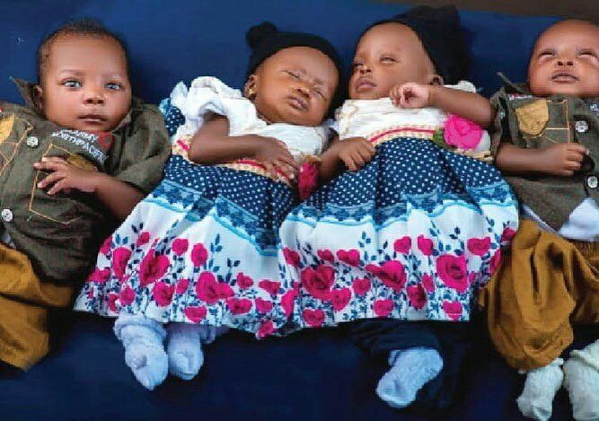 Nigerian couple welcome quadruplets