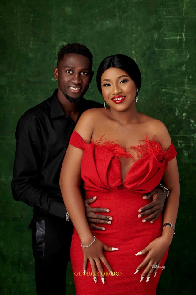 Beautiful pre-wedding pictures of Super Eagles And Leicester City player, Wilfred Ndidi and lover(ph