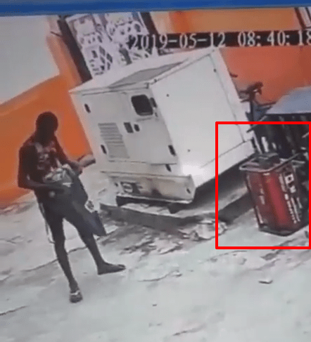 Watch Video Of Thief Caught On CCTV Stealing Generator