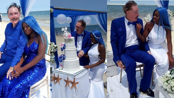 Nigerian lady gets married to her handsome White man in Lagos (photos) - YabaLeftOnline