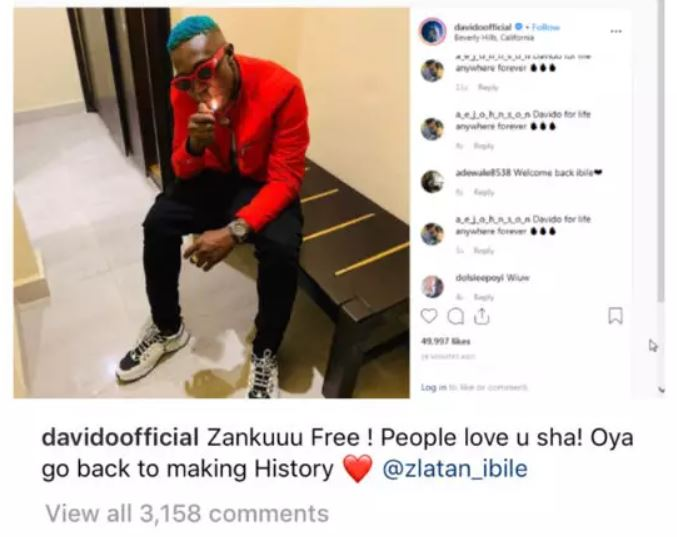 Davido Unfollows Zlatan Ibile, Deletes All Posts About Him. Details
